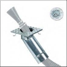 Filcar PZS-140 - Підлогова витяжна свердловина для підключення внутрішніх шлангів з оцинкованої лист