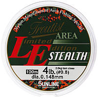 Леска Sunline Troutist Area LE Stealth 100m #0.6/0.128mm 1,5кг