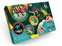 Danko Dino Art (DA-01-05) Набор для ручной росписи 3D моделей динозавров