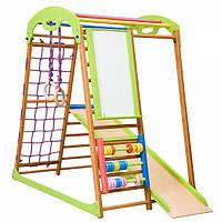 Детский комплекс для дома деревянный цветной BabyWood Plus