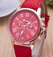Часы Geneva (red)