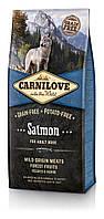 Корм Carnilove Salmon Adult Dog для взрослых собак всех пород с лососем, 12 кг+1,5 кг