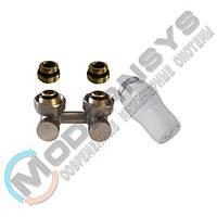 Комплект радиаторный угловой никелированный Schlosser 3/4x3/4 + 2 1/2x3/4