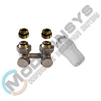 Комплект радиаторный прямой никелированный Schlosser 3/4x3/4 + 2 1/2x3/4