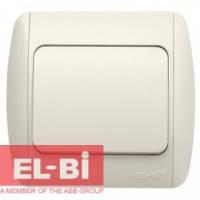 Выключатель 1-клавишный с символом звонок белый EL-BI Zirve Fixline 501-010201-205