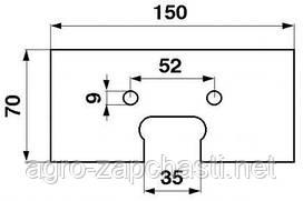 Скребок 06240454-M резиновый транспортера комбайна
