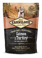 Корм Carnilove Salmon&Turkey Large Breed Puppy для щенков крупных пород с лососем и индейкой, 1,5 кг