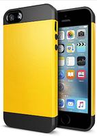Чехол силиконовый для iphone 4/4s черный +желтый, фото 1