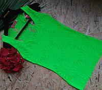 Майка кружевная НЕОН зеленый