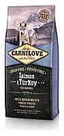 Корм Carnilove Salmon&Turkey Puppy для щенков всех пород с лососем и индейкой, 12 кг+1,5 кг