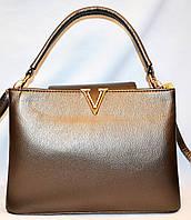 Женские БРЕНДОВЫЕ сумки и саквояжи Louis Vuitton (ГРАФИТ)