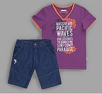 Футболка и джинсовые шорты на мальчика