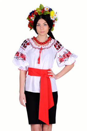Блуза женская Ружа красная