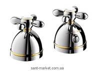Смеситель с термостатом двухвентильный на борт ванны Hansgrohe Axor Carlton хром/золото 17480090