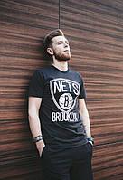 Мужская черная футболка Brooklyn Nets, Black Liberty