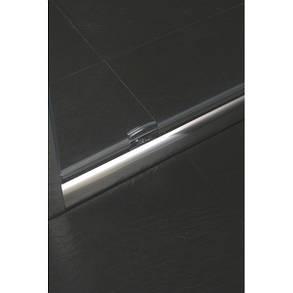 Дверь Eger в нишу распашная 80*185 хром прозрачная, фото 2