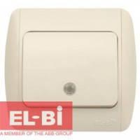 Выключатель 1-клавишный с подсветкой бежевый EL-BI Zirve Fixline 501-010301-201