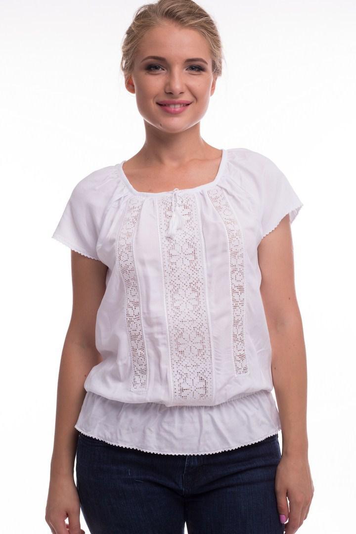 Блуза женская Ладослава (шпатель белый)