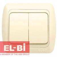 Выключатель 2-клавишный бежевый EL-BI Zirve Fixline 501-010301-202