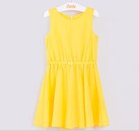Летнее платье из поплина желтого цвета 100% хлопок