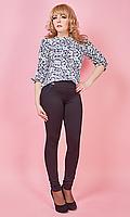 Молодежные женские легинсы с карманами на лето большого размера 42-58 размера