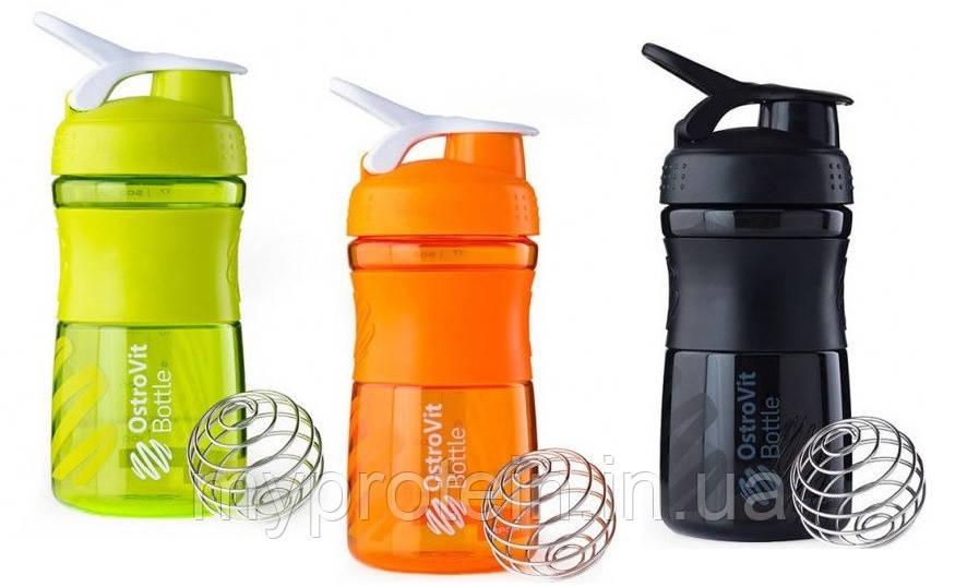 OstroVit - шейкер Bottle - Sportmixer - 500 ml + металлический шарик