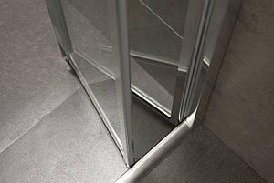 Дверь Eger bifold 90*185 хром прозрачная, фото 2