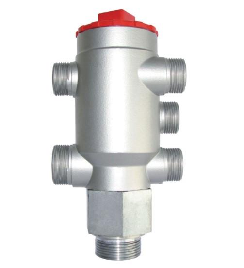 Многоцелевой блок с регулированием температуры, клапанами для возвратно-всасывающих фильтров