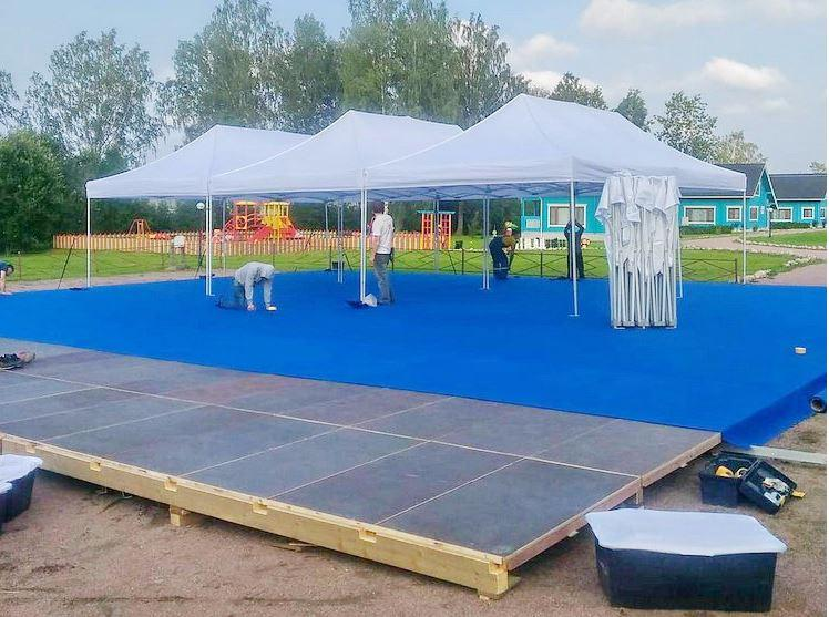Полы, настилы для шатров и павильонов в аренду от 40кв.м - Шатры, тенты,палатки, конструкции - ZebraTent в Киеве