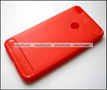 Оригинальный красный TPU чехол бампер на Huawei P8 Lite 2017