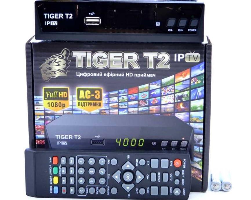 Тюнер (ресивер) Tiger T2 IPTV - цифровой ресивер Т2 для эфирного ТВ