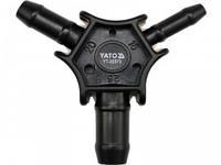 YATO Калібратор трійник для труб PEX-AL-PEX або PERT-AL-PERT Ø= 16, 20, 25 мм