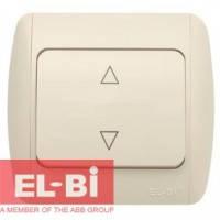 Выключатель 1-клавишный перекрёстный бежевый EL-BI Zirve Fixline 501-010301-214