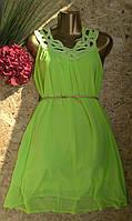 Платье+пояс Афина B2 зеленый