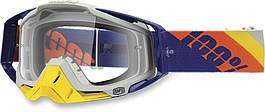 Очки МХ RACECRAFT Goggle Slant Navy/Primer - Clear Lens