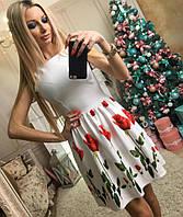 Платье без рукавов юбка клеш 071 (ВИК)