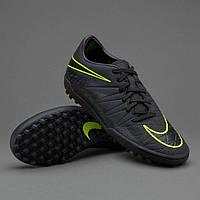 Сороконожки Nike Hypervenom Phelon II TF Black (топ реплика)