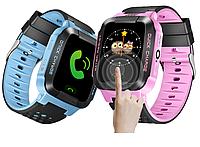 Детские умные часы телефон трекер Smart Baby Watch Q528 (G51) сенсорный цветной экран и фонарик.