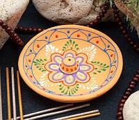 """Подставка круглая для ароматических палочек """"Flower"""", оранжевая"""