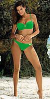 Купальник-бандо с брошью M 393 BRITTANY (S-2XL в расцветках) зеленый (col.9), S