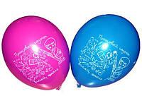 """Воздушные шарики пастель шелкография Прощавай садочок 12"""" 30 см"""
