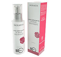 Bioearth Bioprotettiva Очищающее молочко и тоник  2 в 1 на основе Розы Москета 200 мл
