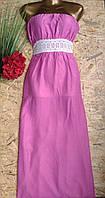 Платье Бюстье макси Богиня 13406 фиалка