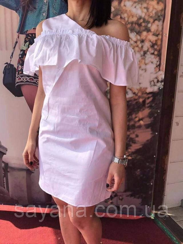 Женское стильное хлопковое платье