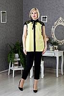 Желтая блуза большого размера