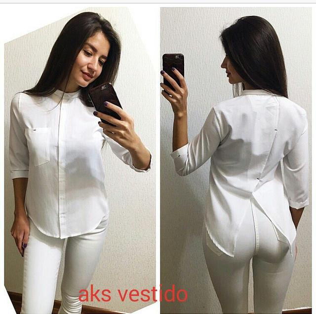 Крутая женская белая рубашка
