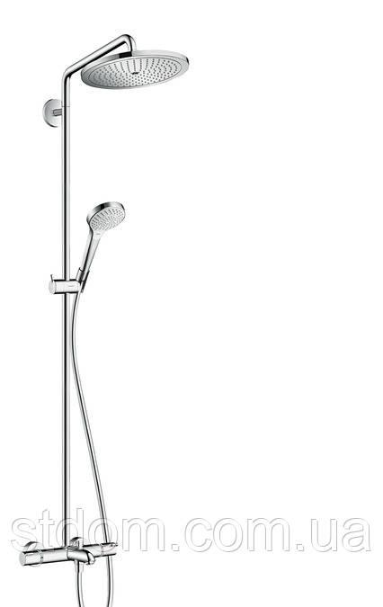 Душевая система для ванны с термостатом Hansgrohe Croma Select 280 Air 1jet Showerpipe 26792000
