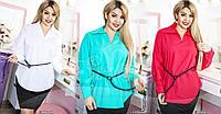 Модная женская блуза в расцветках батал / Украина / рубашка