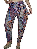 Брюки женские штапель №402 цветной принт, фото 3