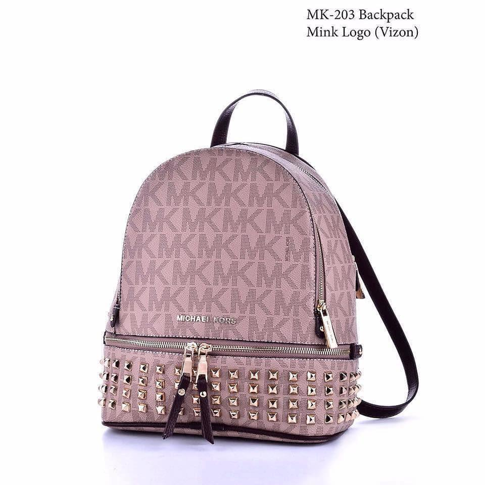 5dedd306700e Rhea backpack from MICHAEL Michael Kors.Equipped with spots for your ... Mk  Bags Backpack Amazon